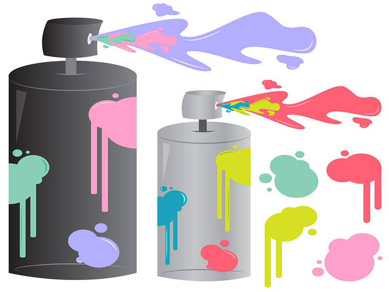 How long does it take for spray paint to dry copy